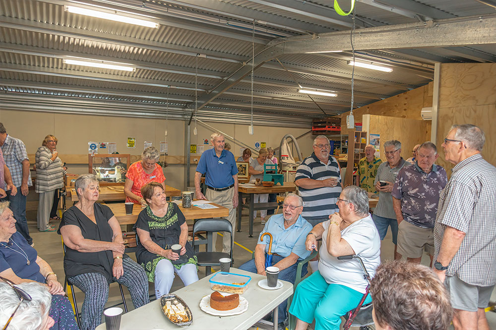 Time for a cuppa and a piece of cake at the Men's Shed Richmond